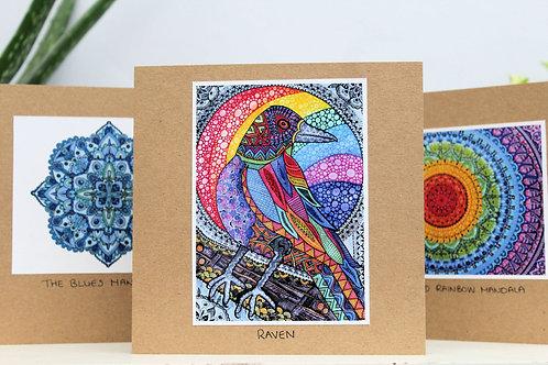 Handmade, blank, eco friendly greetings cards