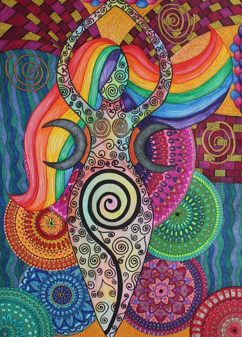 The spiral Goddess