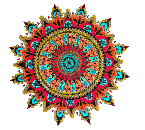 Pointed star mandala