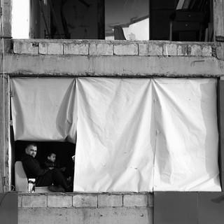 Exile, Saleh, in the rubble of Karantina