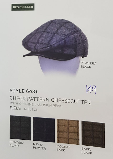 Style 6081 Check Pattern Cheesecutter