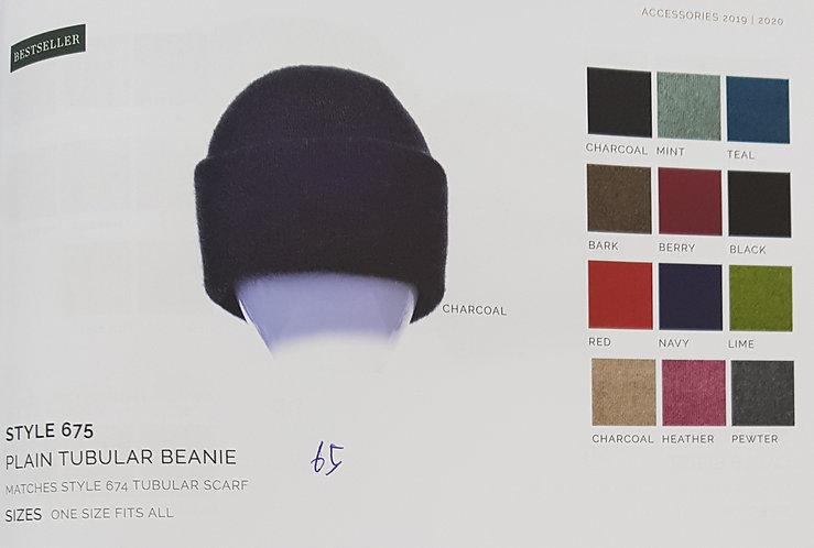 Style 675 Plain Tubular Beanie