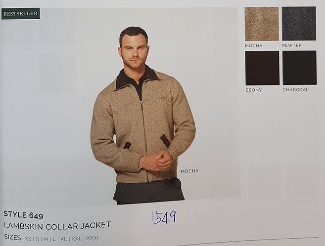 Style 649 Lambskin Collar Jacket