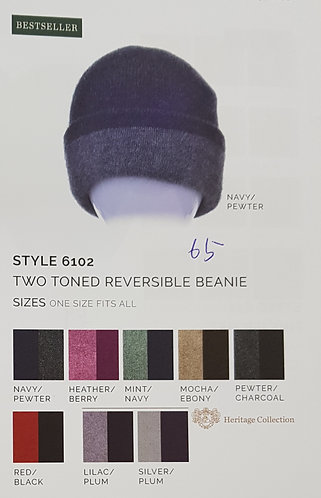 Style 6102 Two Toned Reersible Beanie