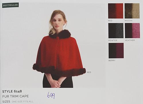Style 6148 Fur Trim Cape