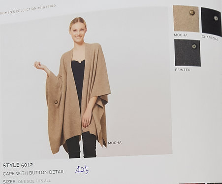 Style 5012 Cape With Button Detail