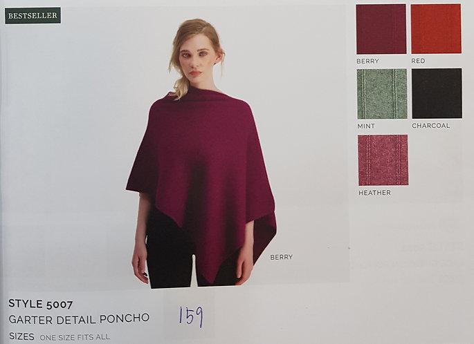 Style 5007 Garter Detail Poncho