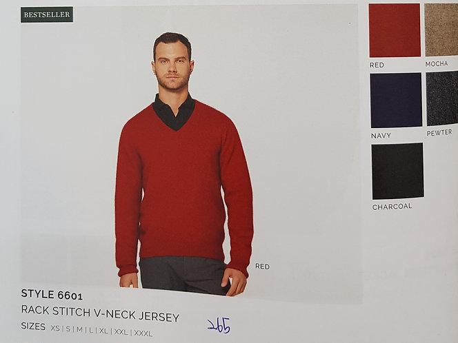 Style 6601 Rack Stitch V-Neck Jersey