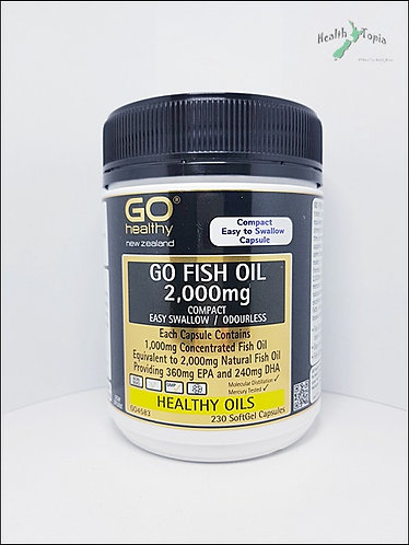 [Go healthy] Go Fish Oil 고헬씨 피쉬오일 2000mg compact 230c  <32,000>