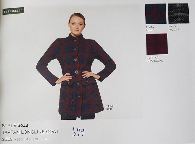 Style 6044 Tartan Longline Coat