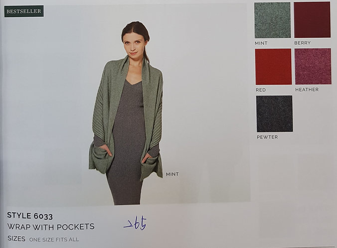 Style 6033 Wrap With Pockets