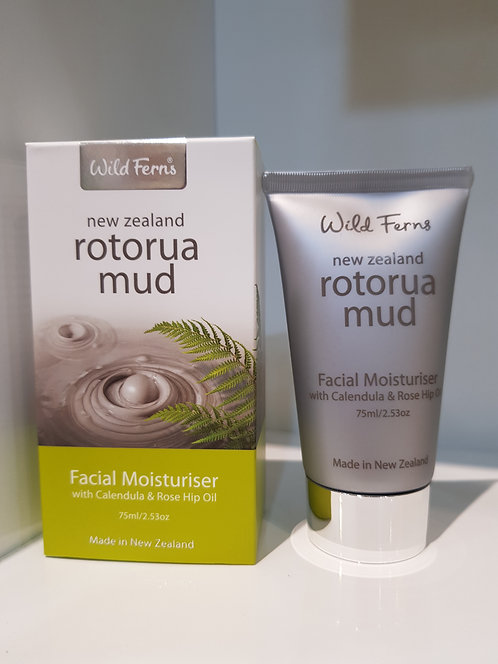 Wild Ferns Rotorua Mud Facial Moisturiser 와일드펀스 로토루라머드 수분크림 75ml