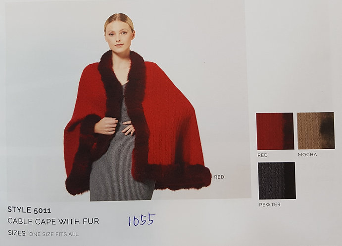 Style 5011 Cable Cape with Fur