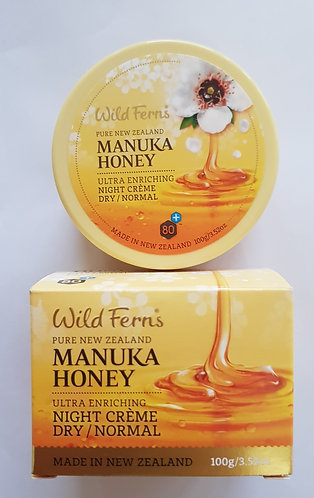 [Parrs] Wild Ferns Manuka Honey Night Creme Dry&Normal 마누카허니 나이트크림 건성&보통 100ml