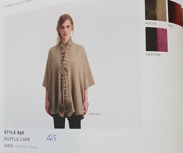 Style 656 Ruffle Cape