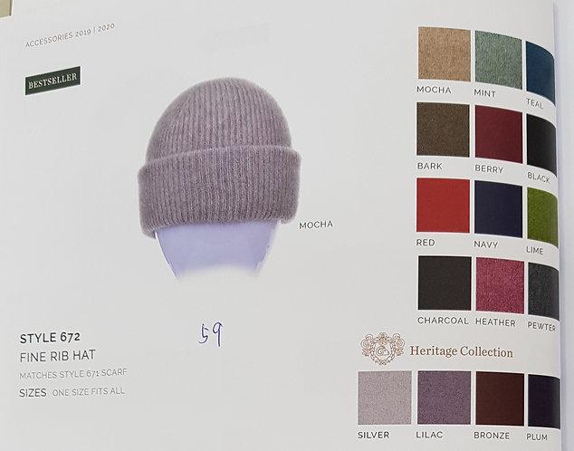 Style 672 Fine Rib Hat