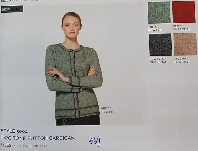 Style 5004 Two Tone Button Cadigan