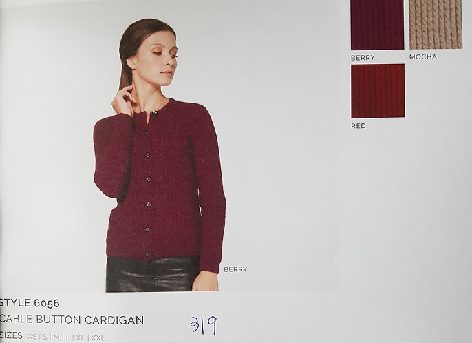 Style  6056 Cable Button Cardigan