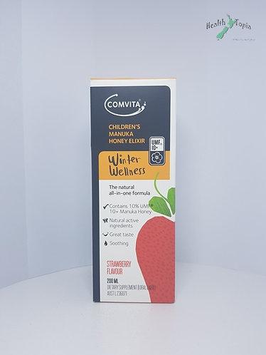Comvita Manuka Honey Elixir 콤비타 어린이용 마누카꿀 추출액 딸기맛 200ml <25,000>
