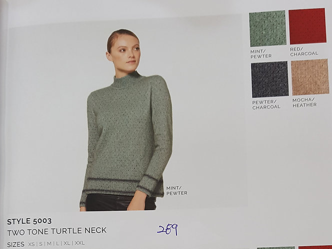 Style 5003 Two Tone Turtle Neck