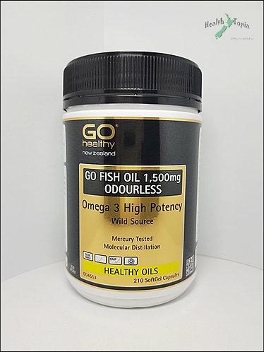 healthy] Go Fish Oil 고헬씨 피쉬오일 1500mg Odourless 210c  <28,000>