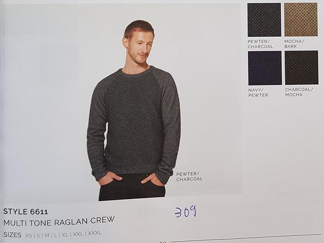 Style 6611 Multi Tone Raglan Crew