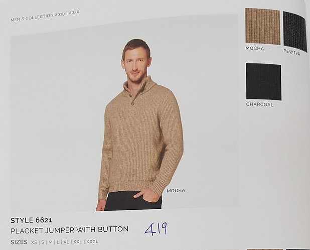 Style 6621 Placket Jumper With Button