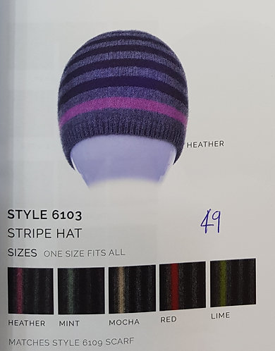 Style 6103 Stripe Hat
