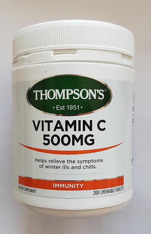 톰슨 비타민 C 500mg 200t<24,000>