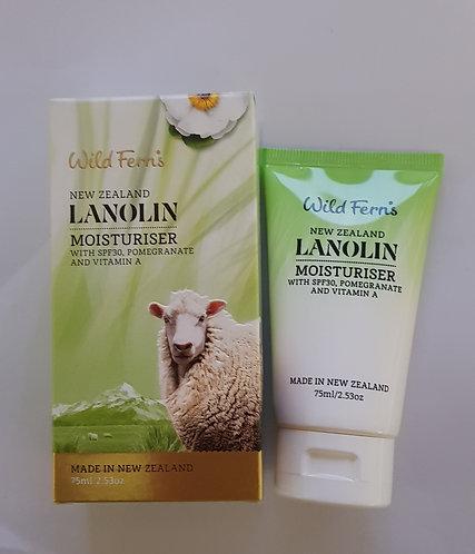 [Parrs] Wild Ferns Lanolin Moisturiser SPF30 라놀린 수분크림 75ml