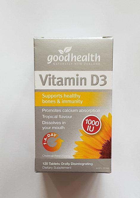 [Good Health] Vitamin D 1000IU 굿헬스 씹어먹는 비타민 D 체리맛 120t<20,000>