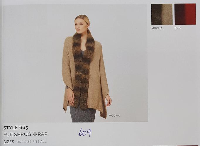 Style 665 Fur Shrug Wrap
