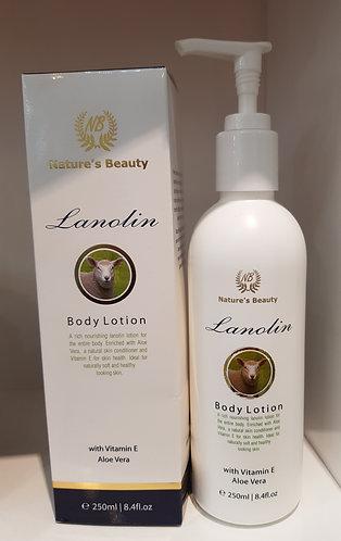 Nature's Beauty Lanolin Body Lotion 네이쳐스뷰티 라놀린 바디 로션 250ml