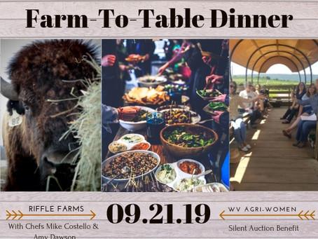 Farm-to-Table Dinner: Sept 21st