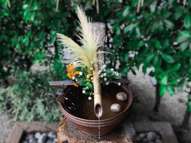 【9月】今月の手水舎 / 花手水①