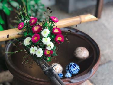 【8月】今月の手水舎 / 花手水①