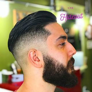 Mid Fade Undercut with Beard Trim