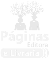 Logo Páginas Editora e Livraria Preta e branca