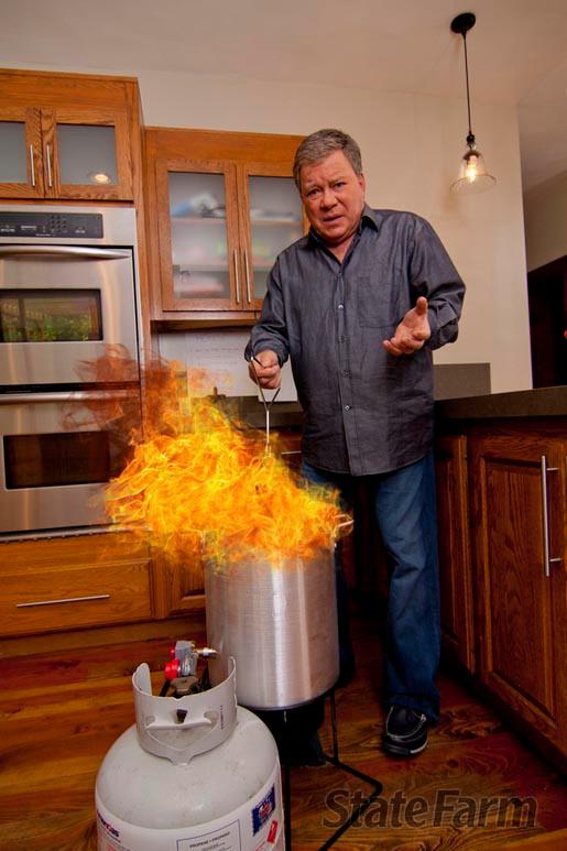Don't burn your house down like Lexington Legend William Shatner