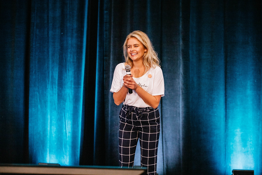 Allaira is pictured above speaking at ZTA's Emerging Leaders Academy (ELA) this past July. This was her first time speaking on behalf of the fraternity in front of a crowd 600+ people.