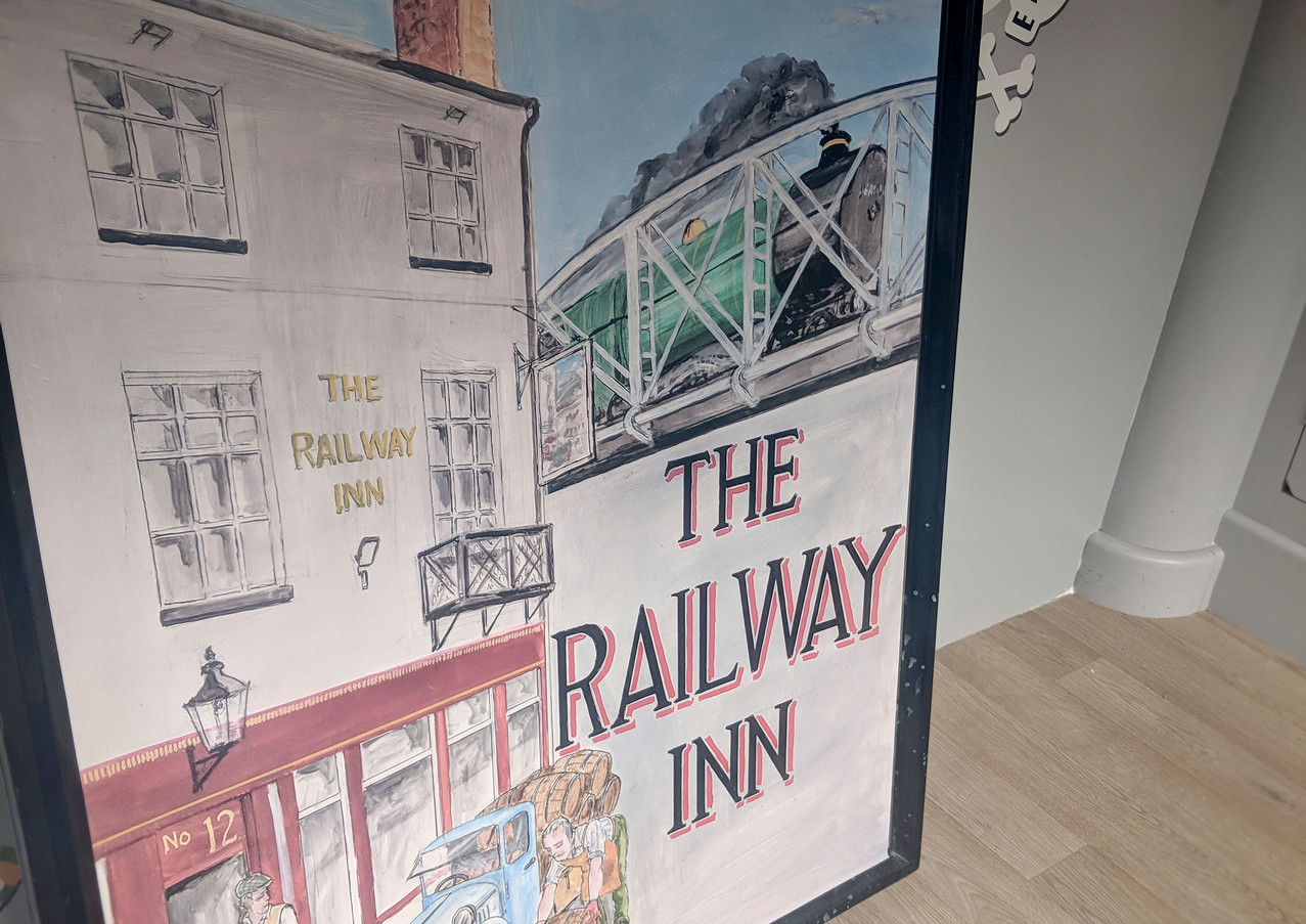 Railway Inn Pub Peeli Sign