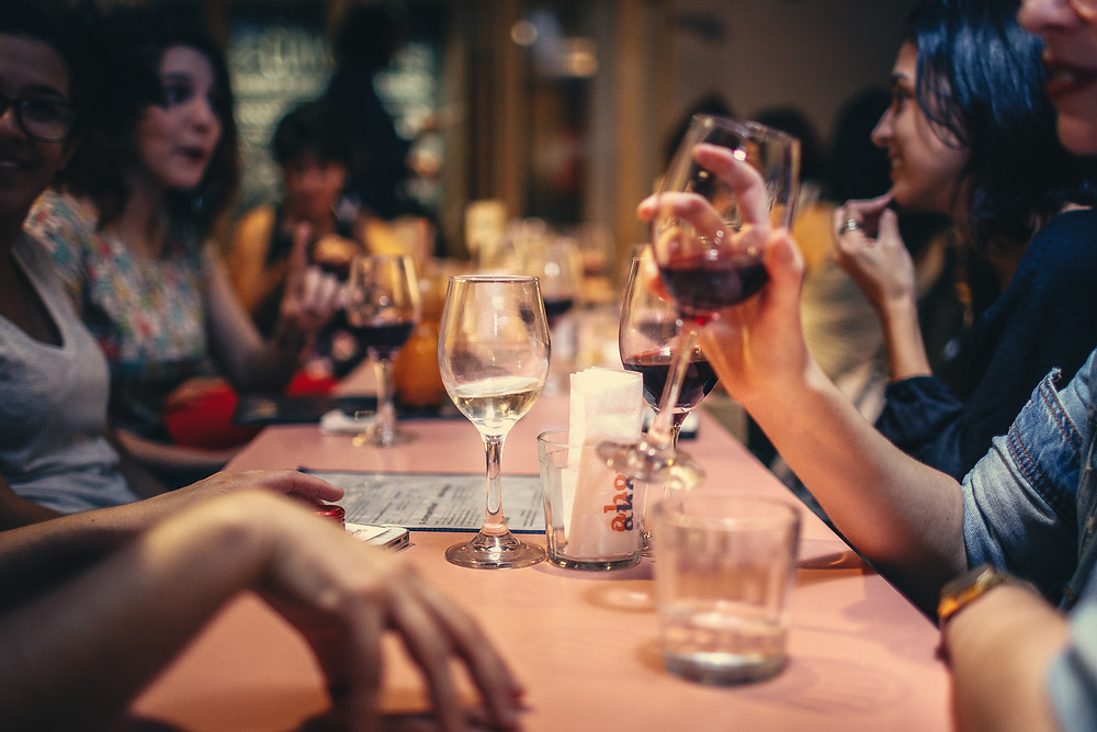 Friends Chritsmas drinks. Peeli Party Season blog post, Warwick