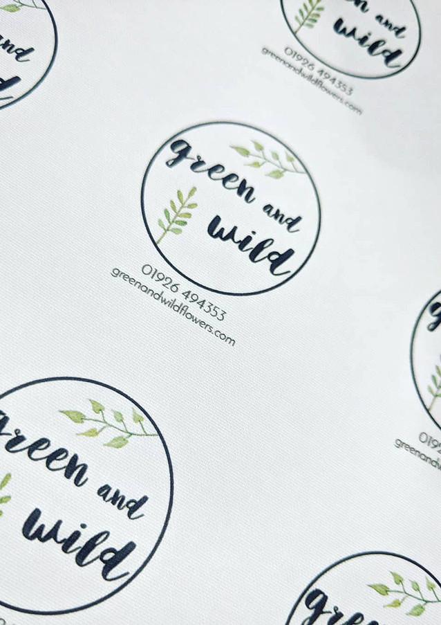 Green and Wild Peeli Stickers