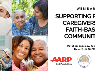 Supporting Family Caregivers in Faith-Based Communities Webinar