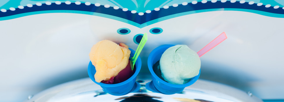scoops of ice cream gelato
