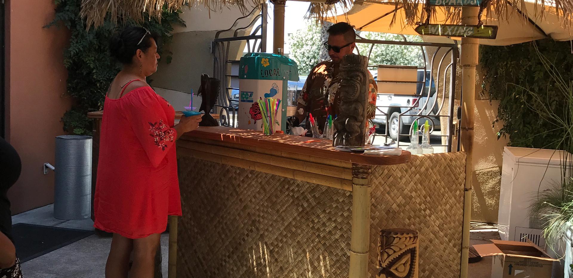 Tiki cart rental shaved ice