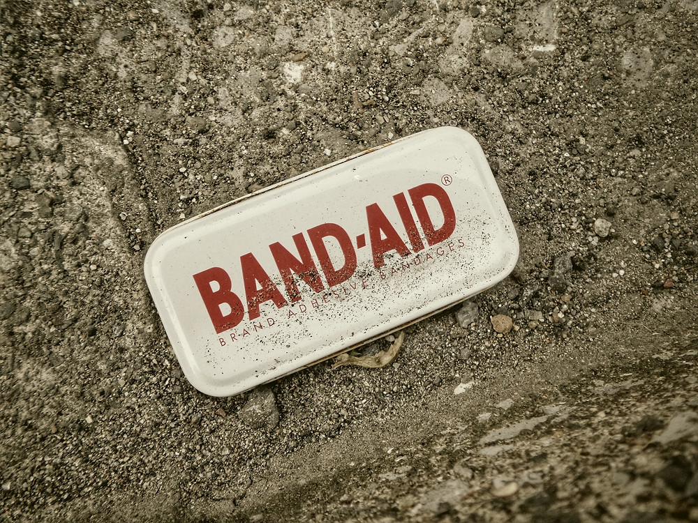 Band Aid to express importance of insurance