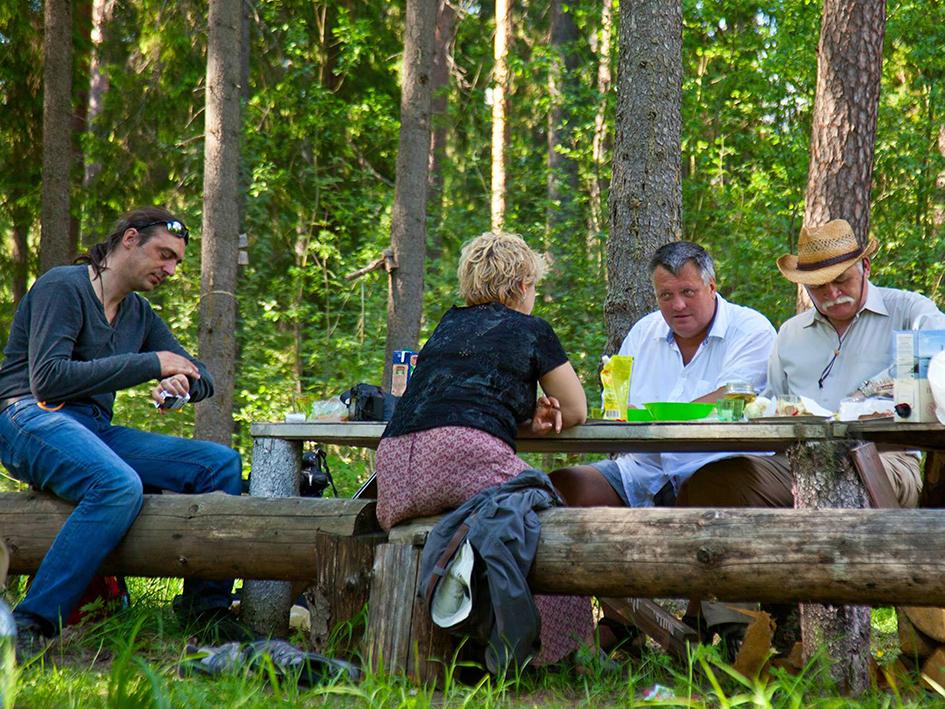 Лесной пикник.