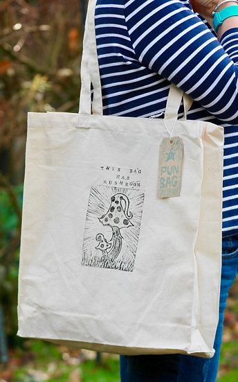 'This Bag Has Mushroom' Cotton Tote Bag