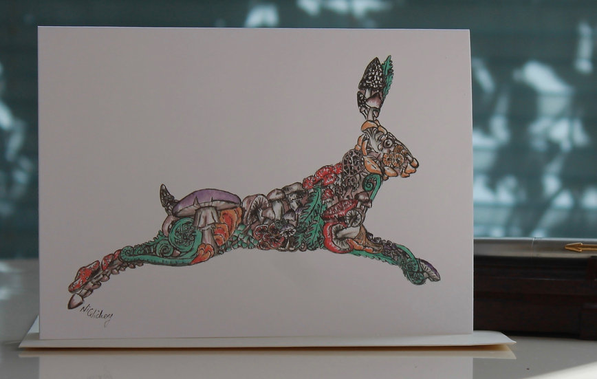 Haerfest Hare Greeting Card
